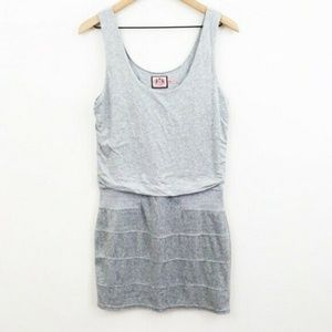 Juicy Couture Knit Velour Gray Dress Medium